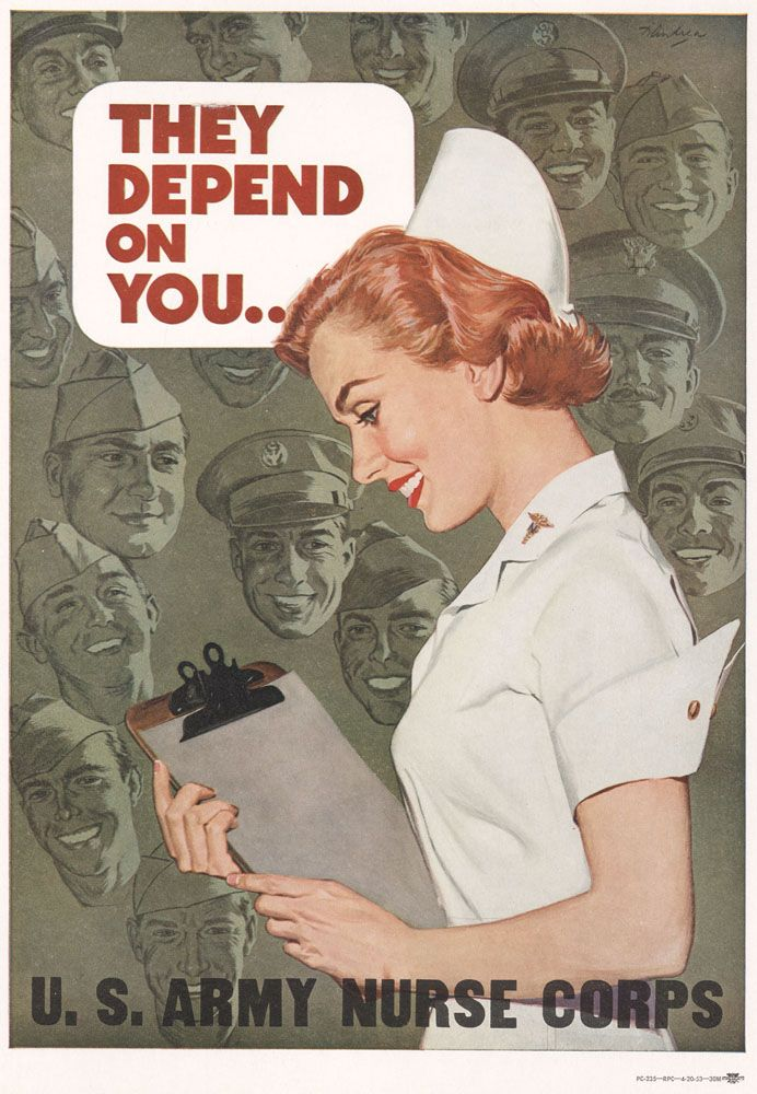 Original WW2 Nursing poster